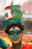 Photo: Steve Bond/Richard Lane Photography.<br />Ghana v Guinea. Africa Cup of Nations. 20/01/2008. Ghana fan with burning pot decoration