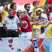 NLD/Amsterdam//20170805 - Gay Pride 2017, Frank van der lende en Sander Lantinga