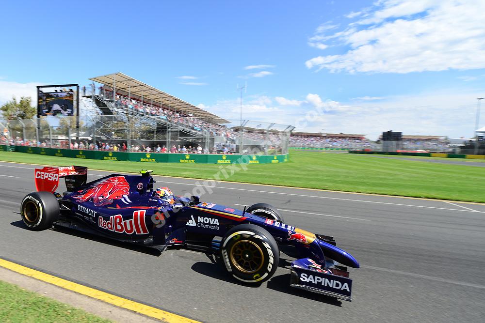 Daniil Kvyat (Toro Rosso-Renault) during practice for the 2014 Australian Grand Prix in Albert Park, Melbourne. Photo: Grand Prix Photo