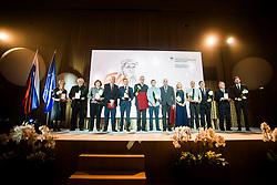 Group photo at 54th Annual Awards of Stanko Bloudek for sports achievements in Slovenia in year 2018 on February 13, 2019 in Brdo Congress Center, Brdo, Ljubljana, Slovenia,  Photo by Peter Podobnik / Sportida