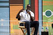 """Marcellus Wiley, Author of """"Never Shut Up: The Life, Opinions, and Unexpected Adventures of an NFL Outlier,"""" interviewed by Angel Rodriguez at the Los Angeles Times Festival of Books held at the USC Campus in Los Angeles, California on Sunday, April 14, 2019"""