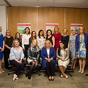16.08. 2017.                                                      <br /> Johnson & Johnson and the University of Limerick WiSTEM Programme. <br /> Pictured at the event were back row standing left to right, Liz Dooley, Michelle Finan, Megan Carroll, Marguerite O'Sullivan, Kristine Surat, Easa Man, Niamh Sheahan, Leisha Daly, Anna Rafferty, Jane-Ann Fitzgerald, Regina Mulhall and Regina Kelly. Front row left to right, Siobhan Phelan, Janice O'Gorman, Kathy Wengel and Jessica Silva. Picture: Alan Place