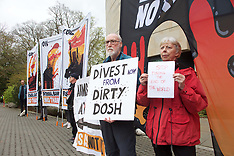 Fossil fuel protest at RBS AGM, Edinburgh, 25 April 2019