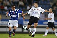 Fotball<br /> Frankrike 2004/05<br /> Strasbourg v Istres<br /> 28. august 2004<br /> Foto: Digitalsport<br /> NORWAY ONLY<br /> DEJAN ILIC (IST) / PASCAL JOHANSEN (STR)