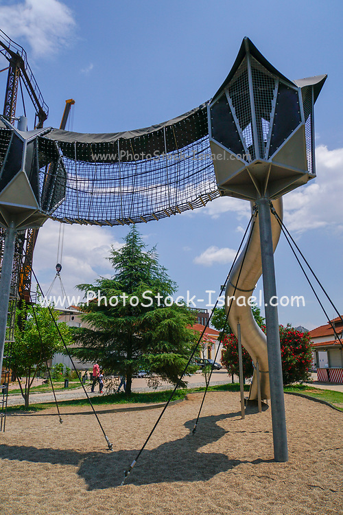 Playground at the Industrial Gas Museum, Athens, Greece
