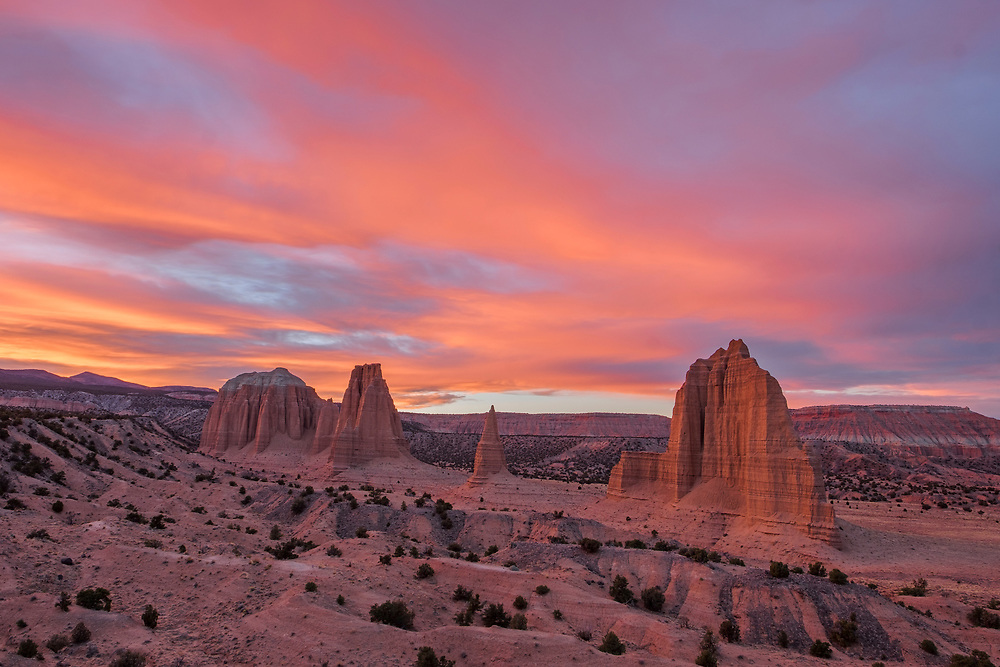 This is one of my favorite images of the entire year...beautiful sunset over the monoliths.
