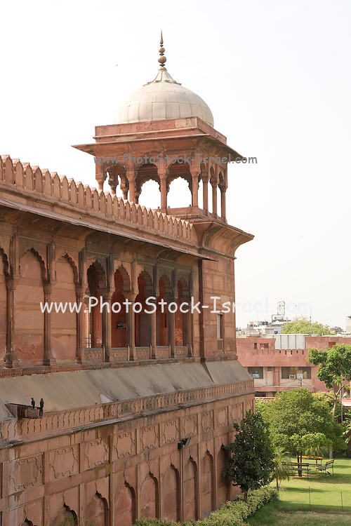 India, Delhi, The Red Fort watch tower
