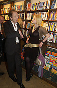 Hugo Dixon and Julia Johnson,  Book party for 'The Dream of Rome' by Boris Johnson. Daunts bookshop. Marylebone High St. London.  1 February 2006. -DO NOT ARCHIVE-© Copyright Photograph by Dafydd Jones 66 Stockwell Park Rd. London SW9 0DA Tel 020 7733 0108 www.dafjones.com