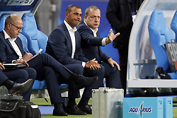 (L-R) assistant trainer Fred Grim of Holland, assistant trainer Ruud Gullit of Holland, coach Dick Advocaat of Holland during the FIFA World Cup 2018 qualifying match between France and Netherlands on August 31, 2017 at Stade de France in Saint Denis,  France