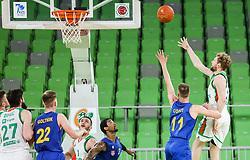 Jaka Blazic of Cedevita Olimpija during 1st Leg basketball match between KK Cedevita Olimpija and KK Hopsi Polzela in Quarterfinals of Nova KBM League 2020/21, on May 4, 2021, in Arena Stozice, Ljubljana, Slovenia. Photo by Vid Ponikvar / Sportida