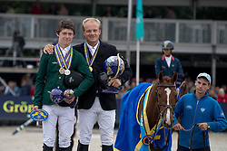1 Greve Willem, NED, 2 and 3 Pender Michael, IRL<br /> FEI World Breeding Jumping Championships for Young horses - Lanaken 2016<br /> © Hippo Foto - Dirk Caremans<br /> 18/09/16
