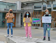 Students protest against exam regrades, Edinburgh 10 August 2020