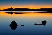 Dusk on Paudash Lake<br /> Paudash Lake<br /> Ontario<br /> Canada