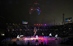 Performers during the opening ceremony of the PyeongChang 2018 Winter Paralympics at the PyeongChang Olympic Stadium in South Korea.