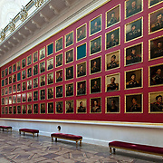 Portrait Gallery of Heroes from the 1812 War at The State Hermitage Museum in St. Petersburg, Russia