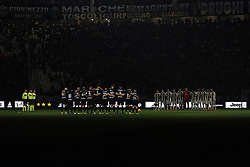 December 7, 2018 - Turin, Turin, Italy - Players of FC Internazionale Milano and Juventus FC observing one minute silence in memory of Gigi Radice during the serie A match between Juventus FC and FC Internazionale Milano at Allianz Stadium on December 07, 2018 in Turin, Italy. (Credit Image: © Giuseppe Cottini/NurPhoto via ZUMA Press)