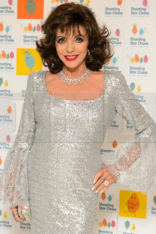 © Licensed to London News Pictures. 01/10/2016. DAME JOAN COLLINS attends the annual Shooting Stars CHASE fundraising ball.  London, UK. Photo credit: Ray Tang/LNP