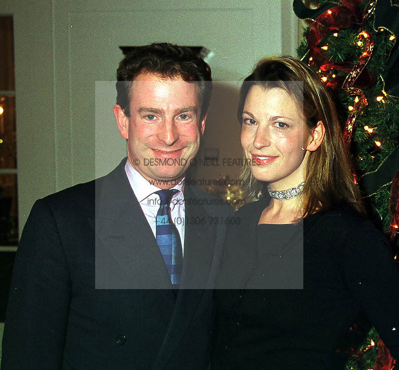 MR & MRS GUY SALTER he is the Managing Director of Asprey & Garrard, at a party in London on 1st December 1999.MZR 5