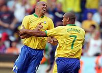 1:0 Jubel Ronaldo, Torschuetze Adriano Brasilien<br /> Fussball WM 2006 Brasilien - Australien<br /> Brasil - Australia<br /> Norway only