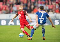 Fotball<br /> 02.09.2018<br /> Eliteserien<br /> Brann Stadion<br /> Brann - Ranheim<br /> Taijo Teniste (L) , Brann<br /> Mads Reginiussen (R) , Ranheim<br /> Foto: Astrid M. Nordhaug