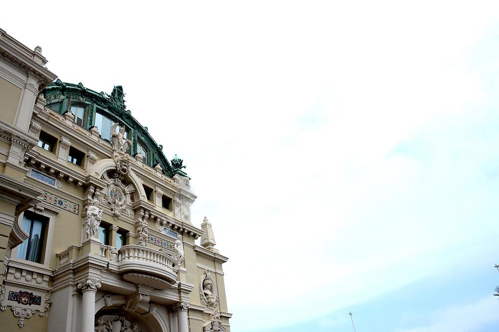 Local building in front of skies before the 2019 Monaco Grand Prix. Photo: Grand Prix Photo