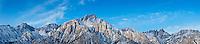 Lone Pine Peak and Sierra Nevada mountains, California