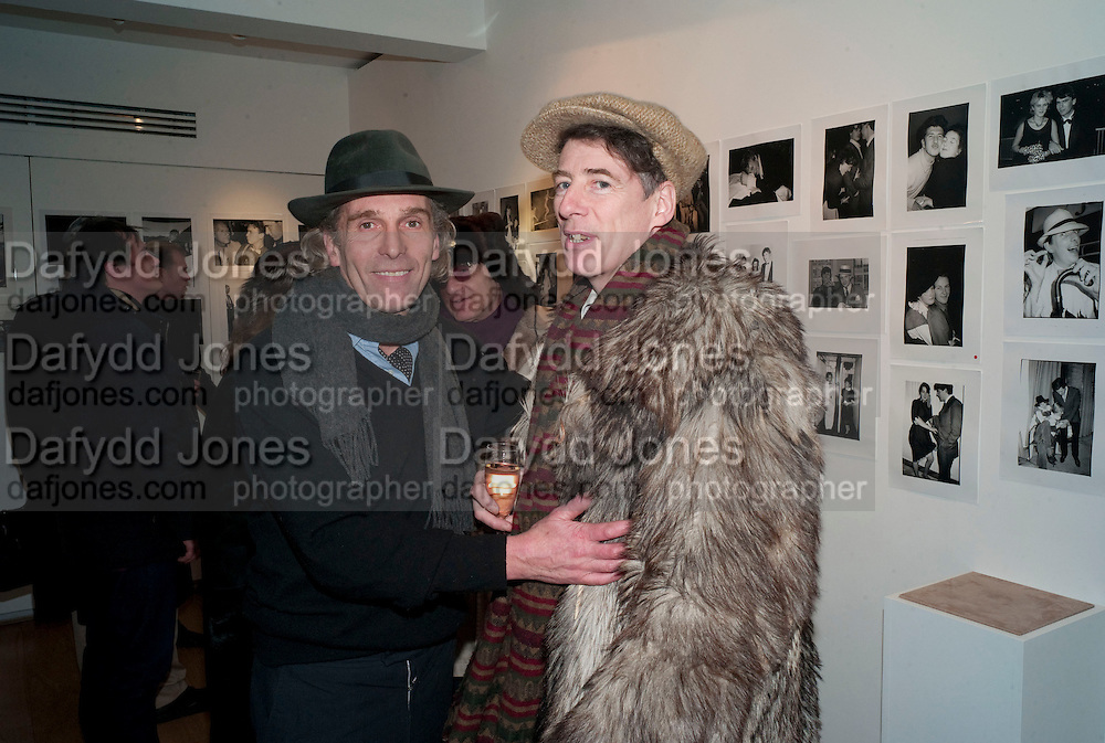 ROBERT PERENO; GAZ MAYALL; , The Way We Wore.- Photographs of parties in the 70's by Nick Ashley. Sladmore Contemporary. Bruton Place. London. 13 January 2010. *** Local Caption *** -DO NOT ARCHIVE-© Copyright Photograph by Dafydd Jones. 248 Clapham Rd. London SW9 0PZ. Tel 0207 820 0771. www.dafjones.com.<br /> ROBERT PERENO; GAZ MAYALL; , The Way We Wore.- Photographs of parties in the 70's by Nick Ashley. Sladmore Contemporary. Bruton Place. London. 13 January 2010.