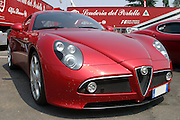 Red Alfa Romeo C8 Sports car