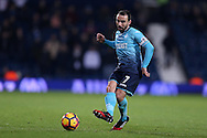 Leon Britton of Swansea city in action. Premier league match, West Bromwich Albion v Swansea city at the Hawthorns stadium in West Bromwich, Midlands on Wednesday 14th December 2016. pic by Andrew Orchard, Andrew Orchard sports photography.