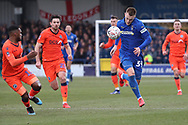 AFC Wimbledon striker Joe Pigott (39) dribbling during the The FA Cup 5th round match between AFC Wimbledon and Millwall at the Cherry Red Records Stadium, Kingston, England on 16 February 2019.