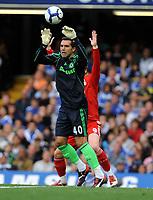 Henrique Hilario<br /> Chelsea 2009/10<br /> Fernando Torres Liverpool<br /> Chelsea V Liverpool (2-0) 04/10/09<br /> The Premier League<br /> Photo Robin Parker Fotosports International