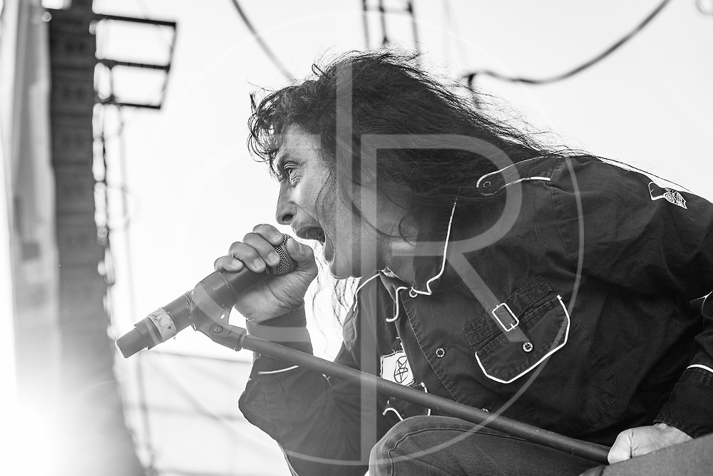 BALTIMORE United States - September 19, 2015: Joey Belladonna of Anthrax, performs at The Shindig, in Baltimore's historic Carroll Park