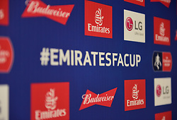 Emirates FA Cup Branding. - Mandatory by-line: Alex James/JMP - 05/01/2019 - FOOTBALL - Ashton Gate Stadium - Bristol, England - Bristol City v Huddersfield Town - Emirates FA Cup third round proper