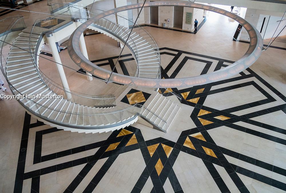 Interior of Museum of Islamic Art in Doha Qatar
