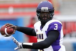06 December 2014:  Normal Illinois.   Brian Carnes (QB) during a 1st round FCS NCAA football game between the Panthers of Northern Iowa and the Redbirds of Illinois State in Hancock Stadium.  Illinois State won the game 41-21.