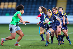 Taz Bricknell of Worcester Warriors Women charges towards the visitor's try line - Mandatory by-line: Nick Browning/JMP - 20/12/2020 - RUGBY - Sixways Stadium - Worcester, England - Worcester Warriors Women v Harlequins Women - Allianz Premier 15s