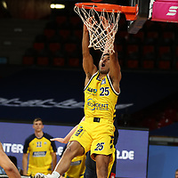 #25 Kenneth Ogbe von Alba Berlin   <br /> Basketball, nph0001 1.Bundesliga BBL-Finalturnier 2020.<br /> Halbfinale Spiel 2 am 24.06.2020.<br /> <br /> Alba Berlin vs EWE Baskets Oldenburg <br /> Audi Dome<br /> <br /> Foto: Christina Pahnke / sampics  / POOL / nordphoto<br /> <br /> National and international News-Agencies OUT - Editorial Use ONLY
