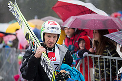 Robert Kranjec of Slovenia during Large Hill Individual Competition at 4th day of FIS Ski Jumping World Cup Finals Planica 2014, on March 23, 2014 in Planica, Slovenia. Photo by Vid Ponikvar / Sportida