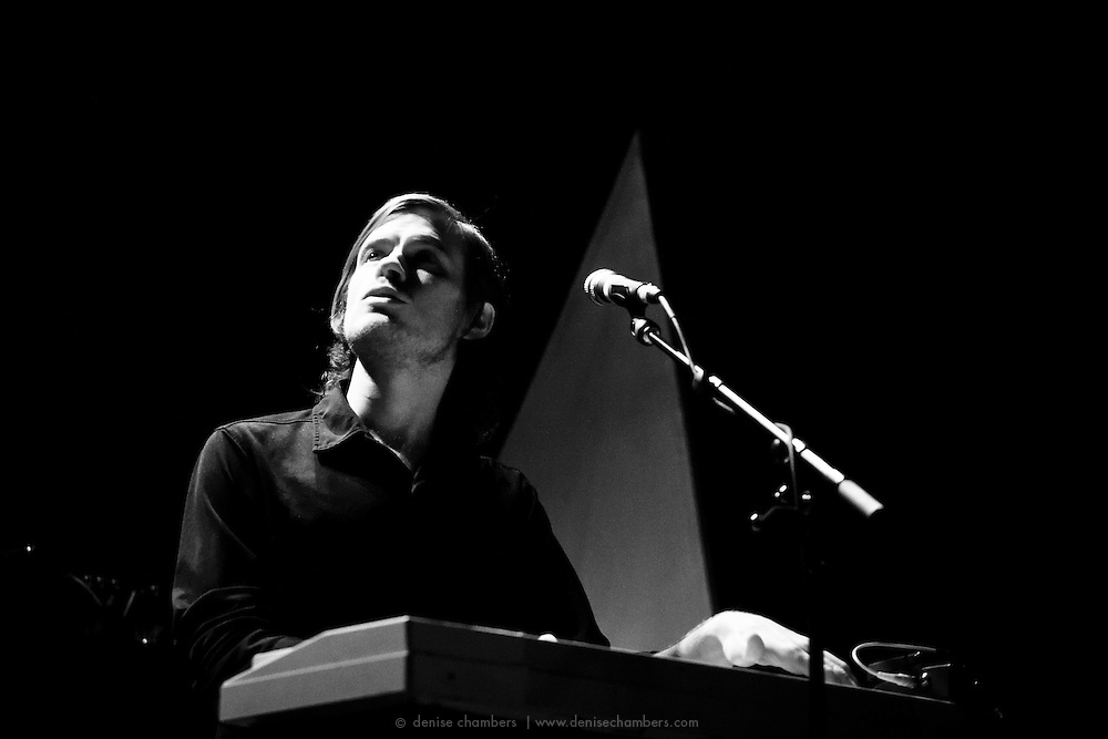 """Daniel J Franz performs with Beach House on September 3, 2010 in support of """"Teen Dream"""" at Red Rocks Amphitheater in Morrison, Colorado."""