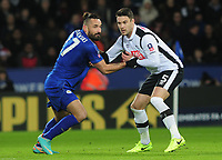 Football - 2016 / 2017 FA Cup - Fourth Round, Replay: Leicester City vs. Derby County<br /> <br /> Marcin Wasilewski of Leicester and Jason Shackell at King Power Stadium.<br /> <br /> COLORSPORT/ANDREW COWIE