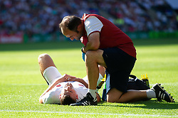 Jonny May of England is treated for an injury - Mandatory byline: Patrick Khachfe/JMP - 07966 386802 - 24/08/2019 - RUGBY UNION - Twickenham Stadium - London, England - England v Ireland - Quilter International