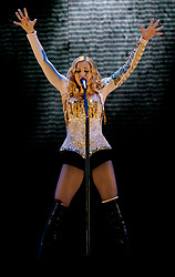File photo dated 29/08/2004 of Madonna performing to Irish fans at Slane Castle, Co Meath, Republic of Ireland. The pop superstar will celebrate her 60th birthday on Thursday, following a long career of reinvention and controversy.