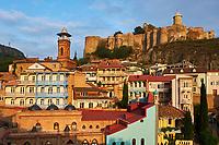 Georgie, Caucase, Tbilissi, vieille ville avec la forteresse Narikala, Eglise de Saint Nicolas // Georgia, Caucasus, Tbilisi, old city, Narikala fortress, Saint Nicholas Churchh