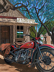 """Pappy Was Here""<br /> Painting by Scott Jacobs 2014<br /> <br /> Pappy Hoel started Sturgis back in 1938. This was Scotts official piece for the 2014 Sturgis Rally."