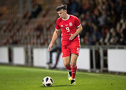 NEWPORT, WALES - Tuesday, October 16, 2018: Wales' xxxx during the UEFA Under-21 Championship Italy 2019 Qualifying Group B match between Wales and Switzerland at Rodney Parade. (Pic by Laura Malkin/Propaganda)