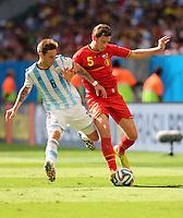 Lucas Biglia of Argentina and Jan Vertonghen of Belgium