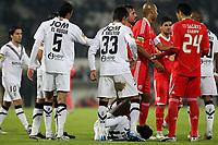 20120103: GUIMARAES, PORTUGAL - Portuguese League Cup, 3rd Stage, Round 1: VSC Guimaraes vs SL Benfica. <br /> In photo: Guimaraes and Benfica players argue.<br /> PHOTO: CITYFILES