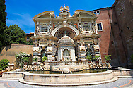 The Organ fountain, 1566, housing organ pipies driven by air from the fountains. Villa d'Este, Tivoli, Italy - Unesco World Heritage Site. .<br /> <br /> Visit our ITALY PHOTO COLLECTION for more   photos of Italy to download or buy as prints https://funkystock.photoshelter.com/gallery-collection/2b-Pictures-Images-of-Italy-Photos-of-Italian-Historic-Landmark-Sites/C0000qxA2zGFjd_k<br /> If you prefer to buy from our ALAMY PHOTO LIBRARY  Collection visit : https://www.alamy.com/portfolio/paul-williams-funkystock/villa-este-tivoli.html