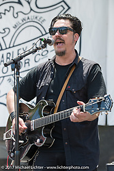 The Jesse Dayton Band playing the main stage at the Born Free 9 Motorcycle Show at Oak Creek Park. Silverado, CA. USA. Sunday June 25, 2017. Photography ©2017 Michael Lichter.
