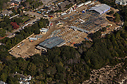 Aerial view of Sullivan's Island Elementary School under construction in Sullivan's Island, SC.